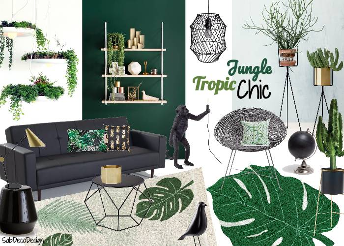 Un salon Tropical Chic