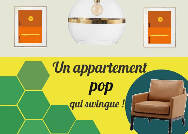 Un appartement pop qui swingue !