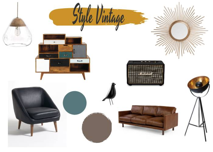 ambiance masculine vintage