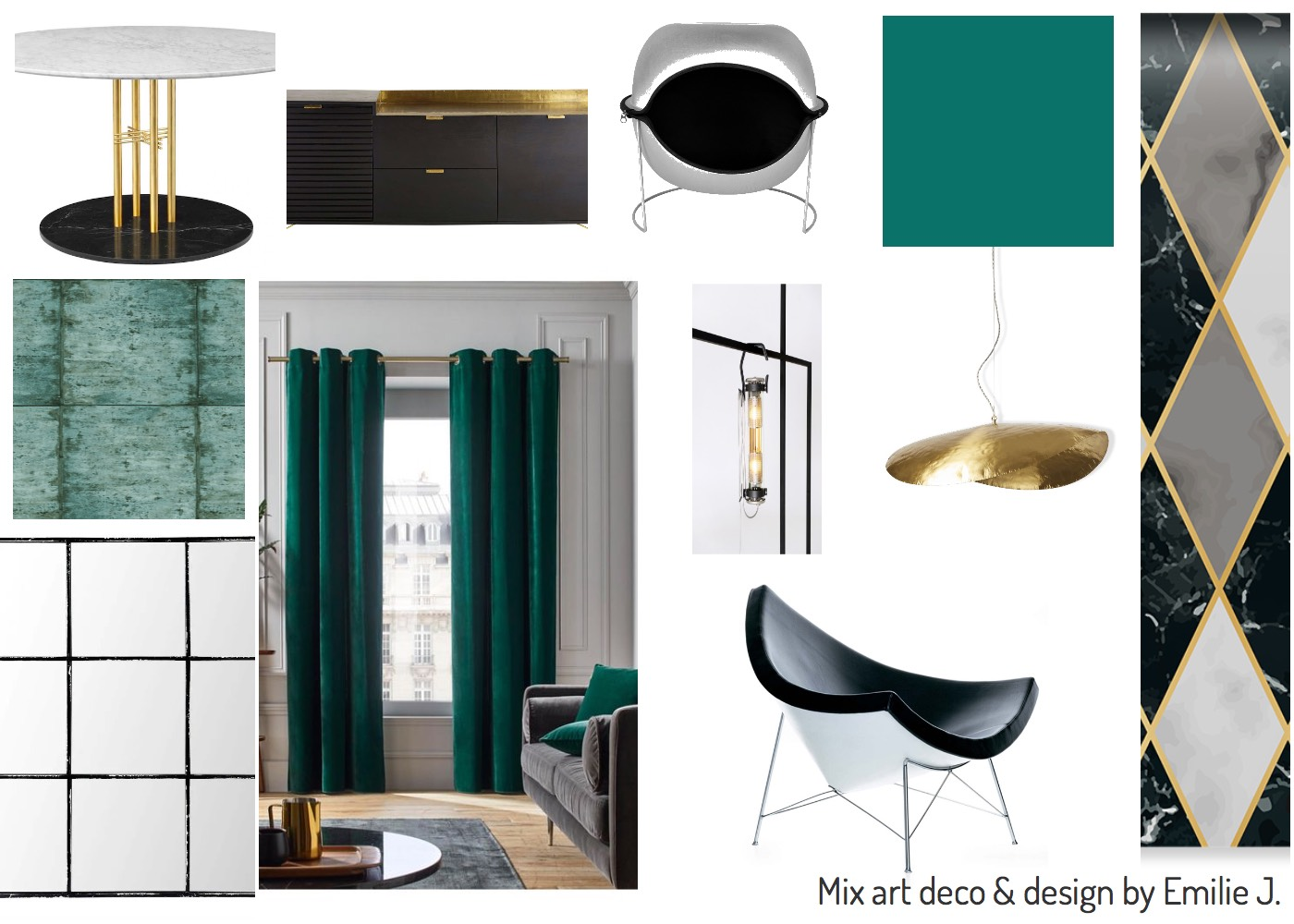 Mix art deco and design styles