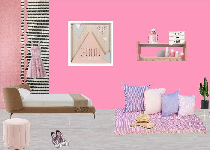 chambre rose girly