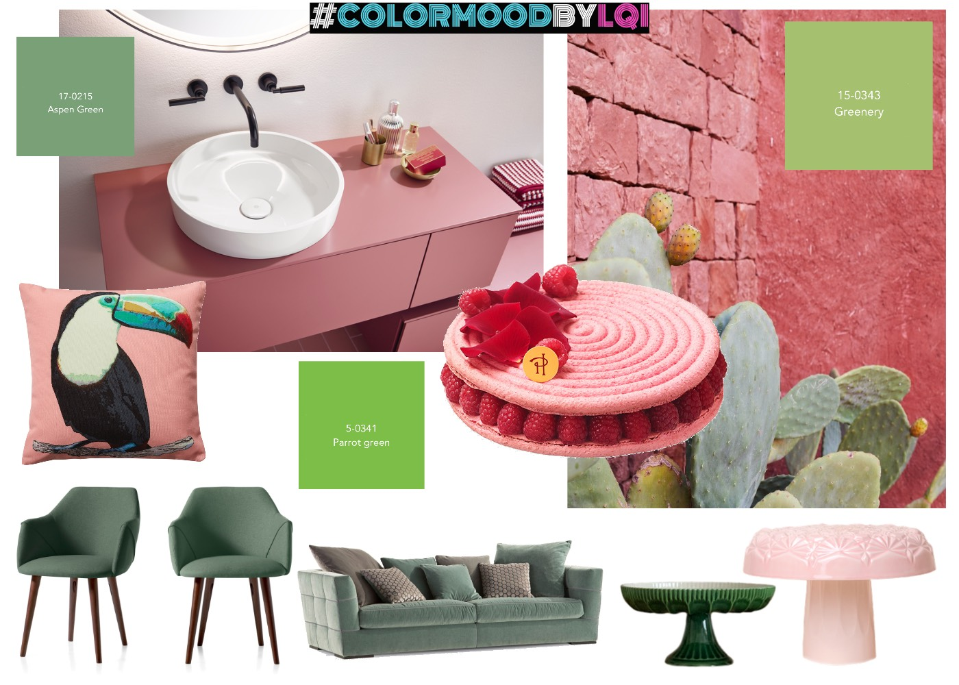 #COLORMOODBYLQ PINKY GREENERY