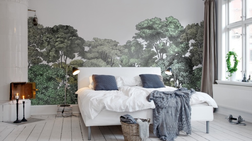 papier peint la tendance panoramique actualit s par cendrine domingez setmystyle. Black Bedroom Furniture Sets. Home Design Ideas