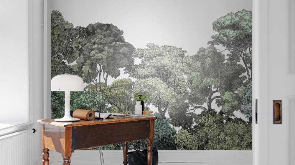 papier peint paysage exotique papier peint exotique papier peint panoramique exotique with. Black Bedroom Furniture Sets. Home Design Ideas