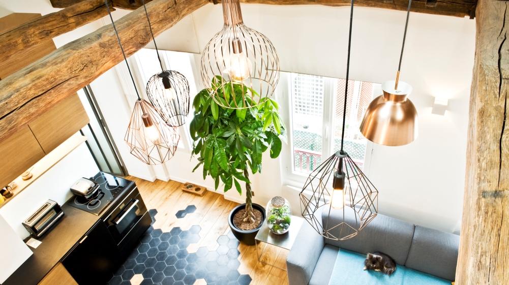setmystyle visite un appartement qui prend de la hauteur actualit s par cendrine domingez. Black Bedroom Furniture Sets. Home Design Ideas