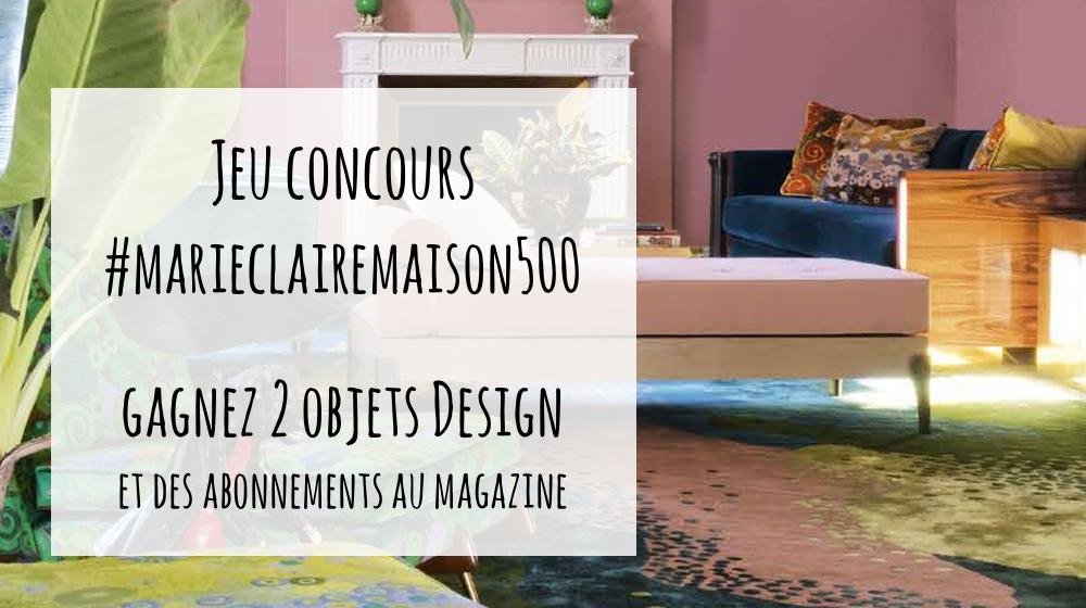 jeux concours marie claire maison avie home. Black Bedroom Furniture Sets. Home Design Ideas